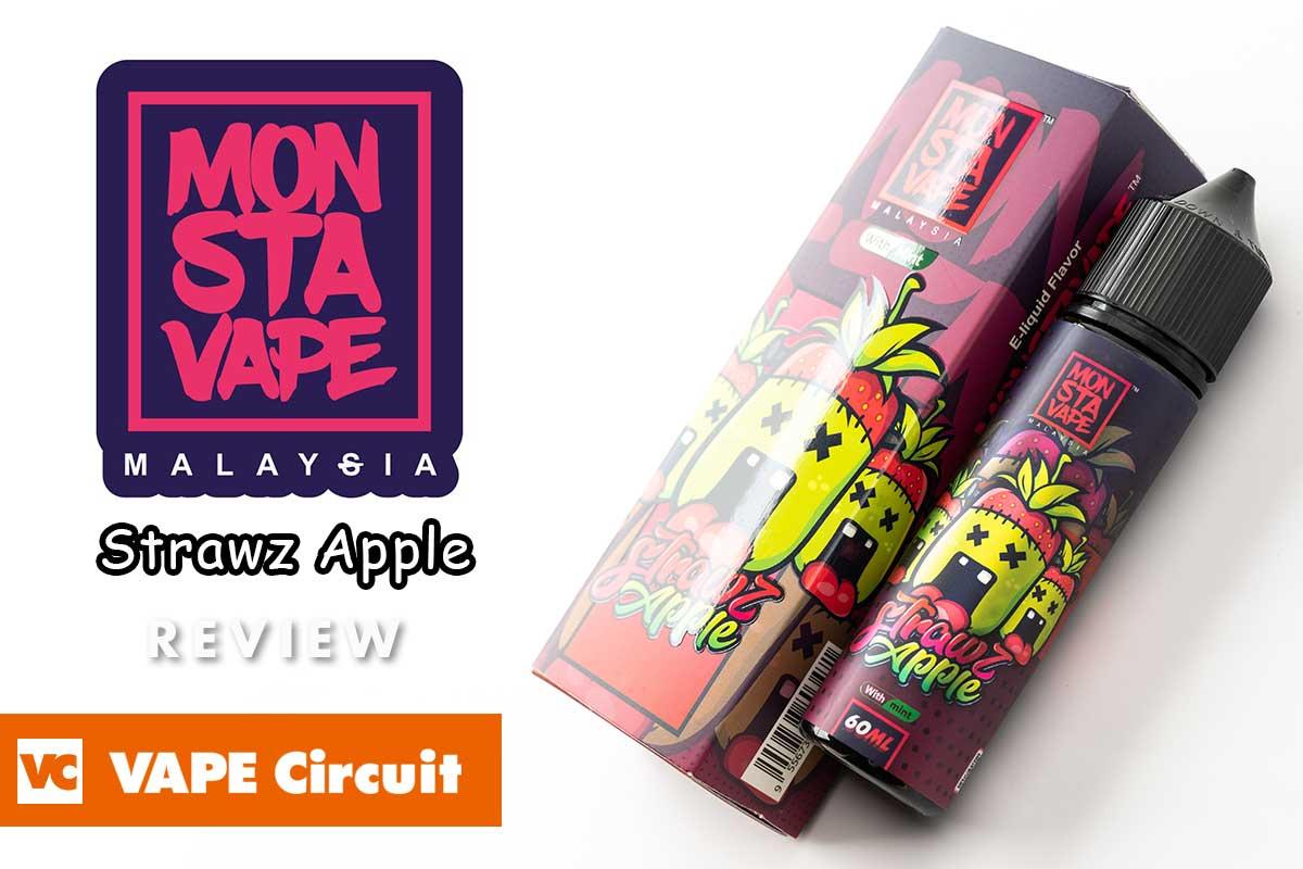Monstavape Strawz Apple(モンスタベイプ ストローズアップル)レビュー