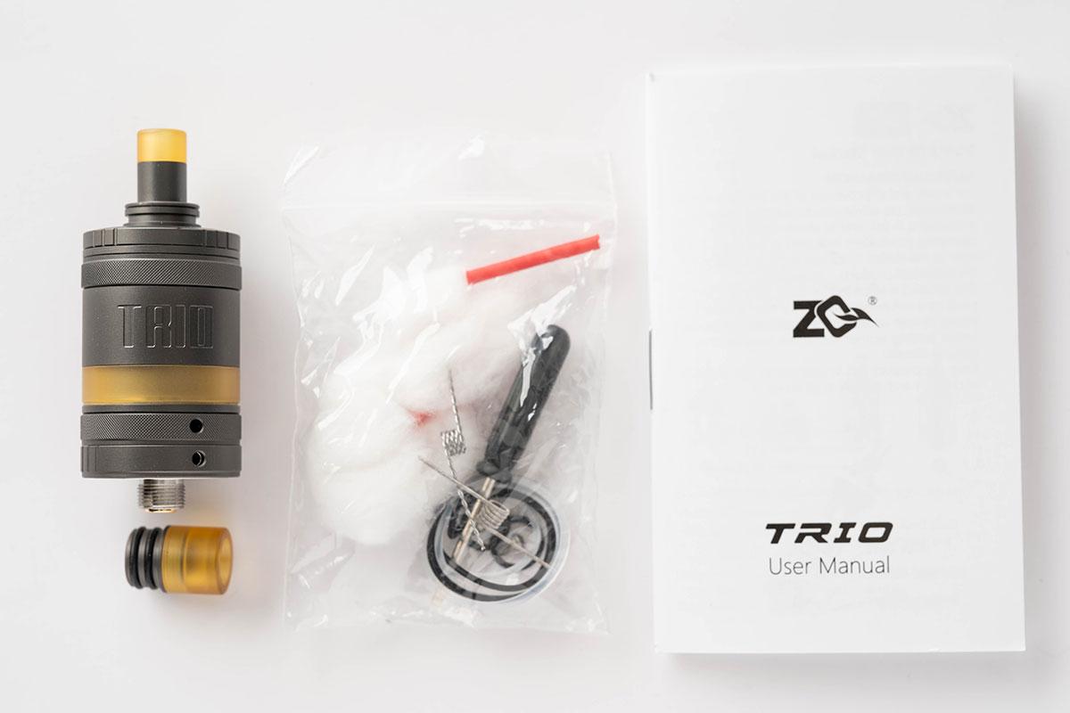 ZQ Vapor TRIO RTA(ゼットキューベイパー トリオタンク)レビュー