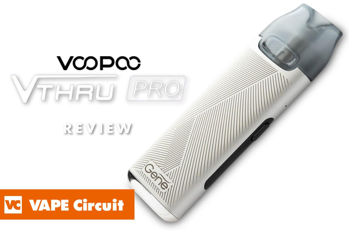 VOOPOO V.THRU Pro レビュー 小型軽量スリムなMTL向けディスプレイ付きPODデバイス!