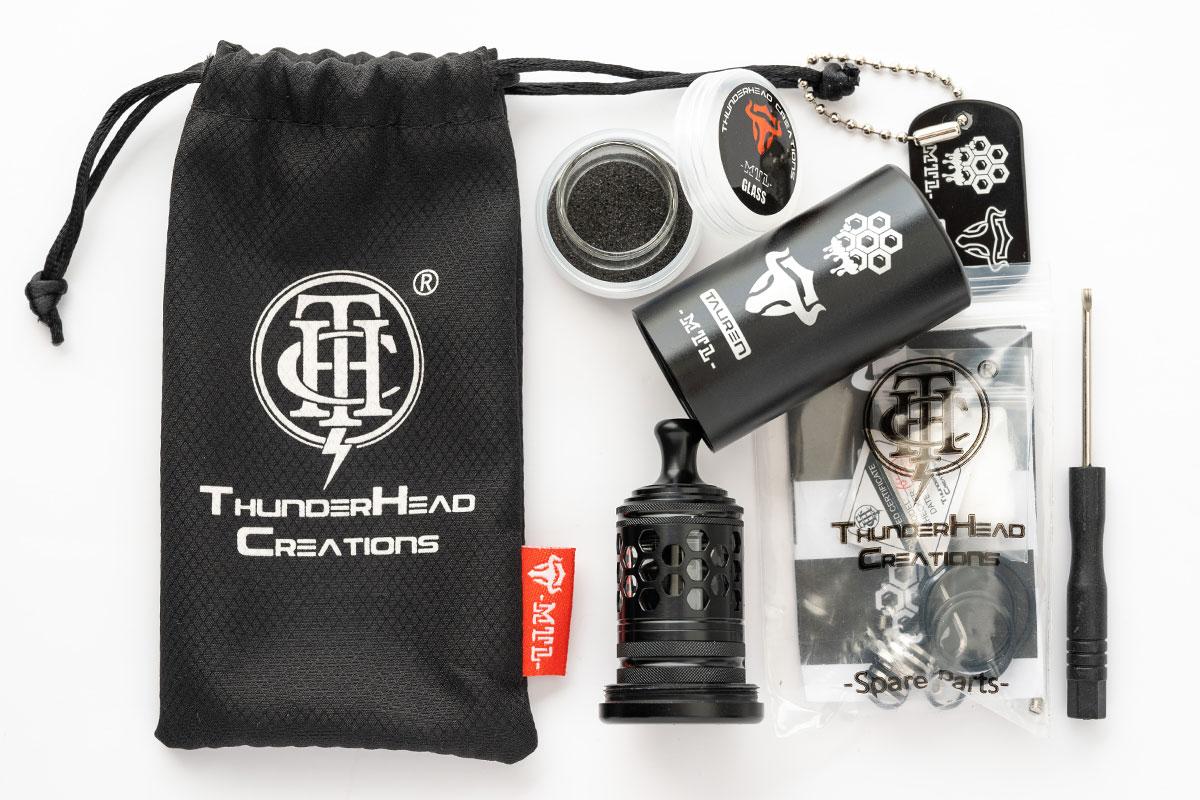 Thunderhead Creations Tauren MTL RTA(サンダーヘッドクリエイションズ タウレン エムティーエル タンク)レビュー
