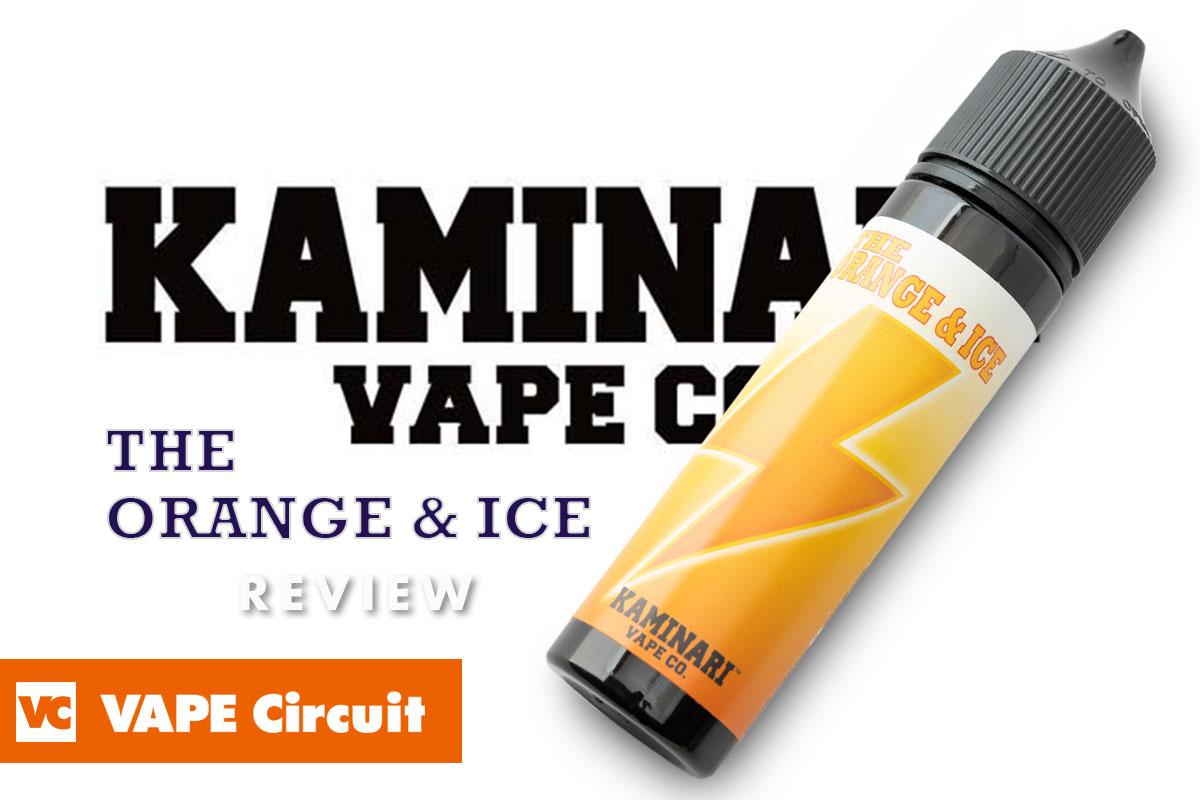 KAMINARI VAPE CO. THE ORANGE & ICE(カミナリベイプ ザ オレンジ&アイス)レビュー