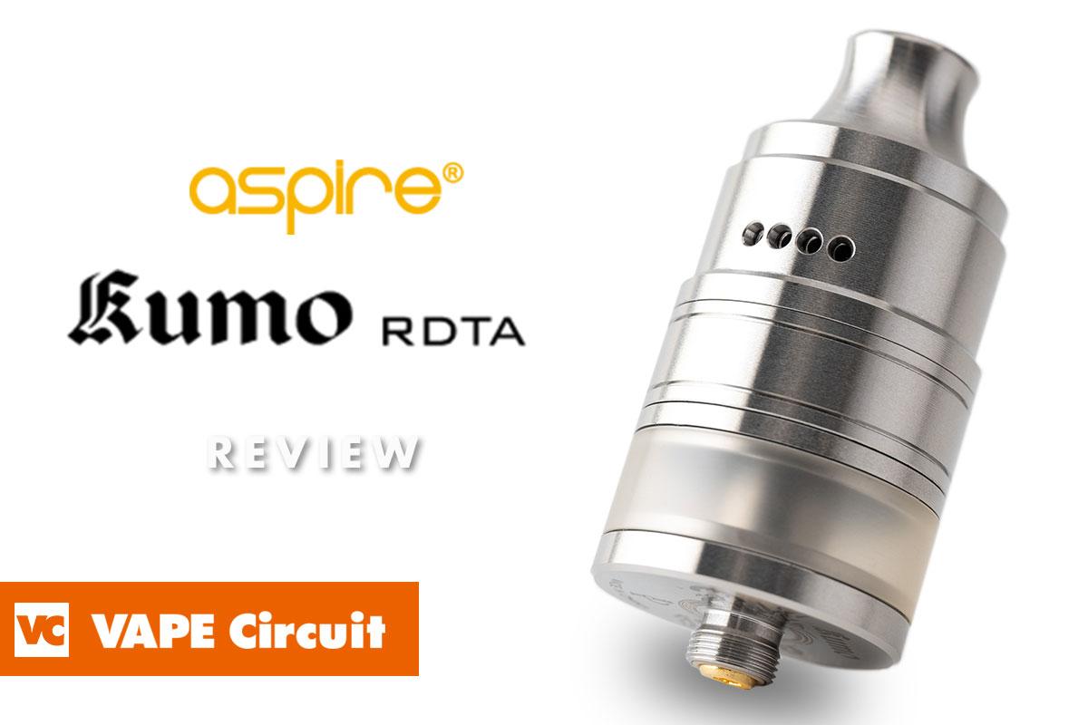 aspire Kumo RDTA(アスパイア クモ ドリッパータンク)レビュー
