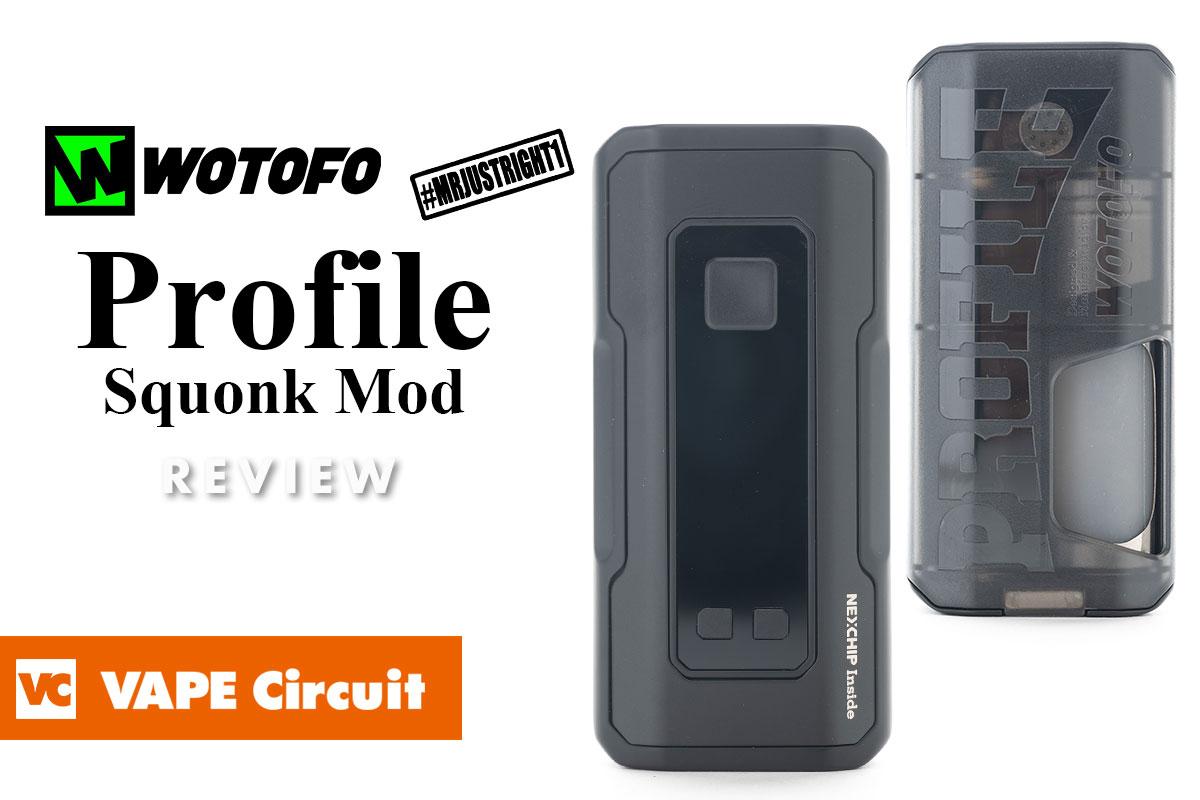Wotofo Profile Squonk Mod(ウォトフォ プロフィールスコンクモッド)レビュー